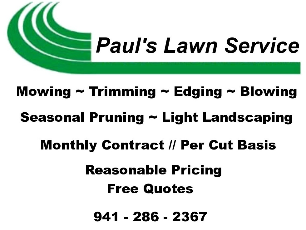 Grassy point sailing community port charlotte fl for Local lawn care services