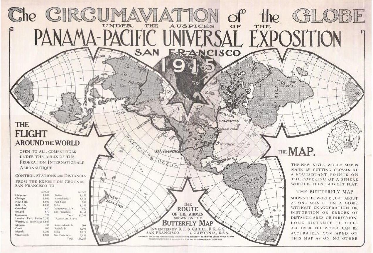 Round The World Flights - Us Flight Path Map